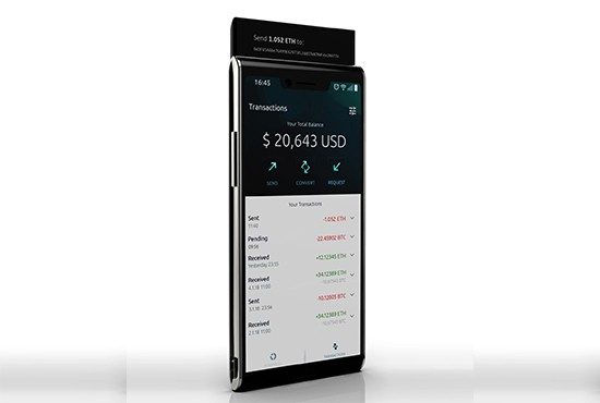 FINNEY phone – The first of a new breed of crypto-enabled smarthpones.