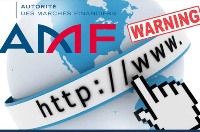 French AMF List Unauthorised Investment Websites