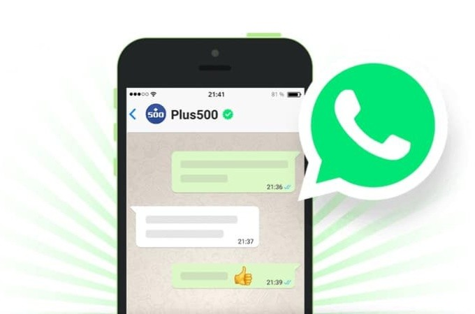 Plus500 opens Whatsapp Customer support