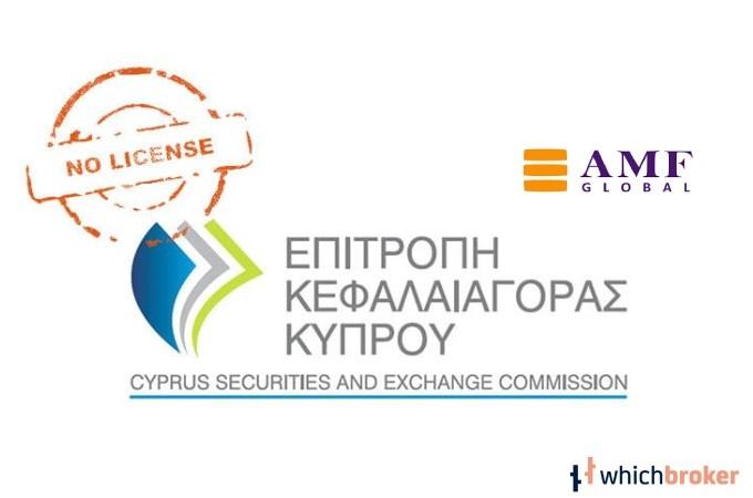 AMFL Loses CySEC License